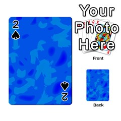 Simple blue Playing Cards 54 Designs