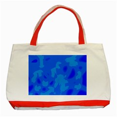 Simple blue Classic Tote Bag (Red)