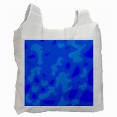 Simple blue Recycle Bag (One Side)