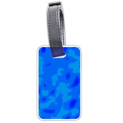Simple blue Luggage Tags (One Side)