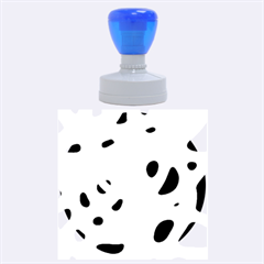 Simple blue Rubber Round Stamps (Large)