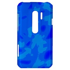 Simple blue HTC Evo 3D Hardshell Case