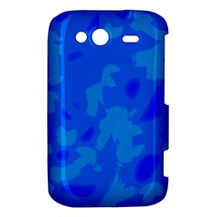 Simple blue HTC Wildfire S A510e Hardshell Case
