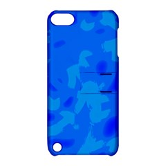 Simple blue Apple iPod Touch 5 Hardshell Case with Stand