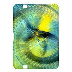 Light Blue Yellow Abstract Fractal Kindle Fire Hd 8 9