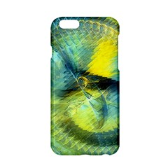 Light Blue Yellow Abstract Fractal Apple Iphone 6/6s Hardshell Case