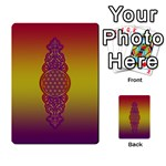 Flower Of Life Vintage Gold Ornaments Red Purple Olive Multi-purpose Cards (Rectangle)  Back 35