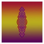 Flower Of Life Vintage Gold Ornaments Red Purple Olive Small Memo Pads 3.75 x3.75  Memopad