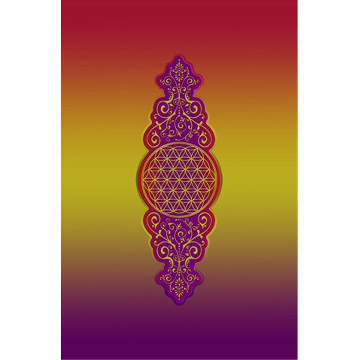 Flower Of Life Vintage Gold Ornaments Red Purple Olive 5.5  x 8.5  Notebooks