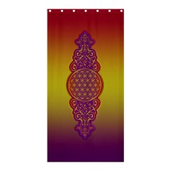 Flower Of Life Vintage Gold Ornaments Red Purple Olive Shower Curtain 36  X 72  (stall)