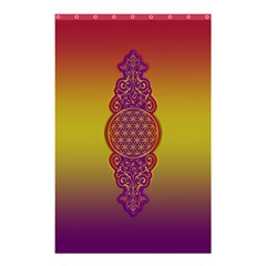 Flower Of Life Vintage Gold Ornaments Red Purple Olive Shower Curtain 48  X 72  (small)