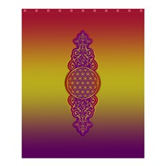 Flower Of Life Vintage Gold Ornaments Red Purple Olive Shower Curtain 60  X 72  (medium)