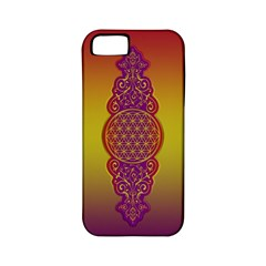 Flower Of Life Vintage Gold Ornaments Red Purple Olive Apple Iphone 5 Classic Hardshell Case (pc+silicone)