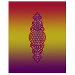 Flower Of Life Vintage Gold Ornaments Red Purple Olive Drawstring Bag (Small) Front