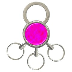 Simple pink 3-Ring Key Chains