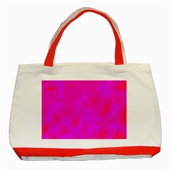 Simple pink Classic Tote Bag (Red)