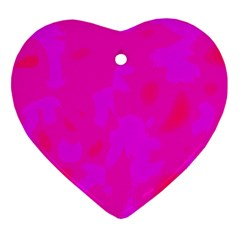 Simple pink Heart Ornament (2 Sides)