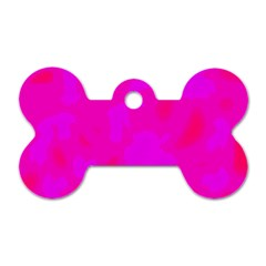 Simple pink Dog Tag Bone (Two Sides)