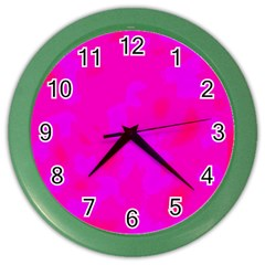 Simple pink Color Wall Clocks