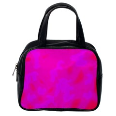 Simple pink Classic Handbags (One Side)