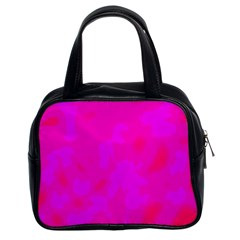 Simple pink Classic Handbags (2 Sides)