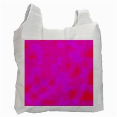 Simple pink Recycle Bag (One Side)