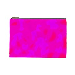 Simple pink Cosmetic Bag (Large)
