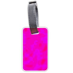 Simple pink Luggage Tags (One Side)