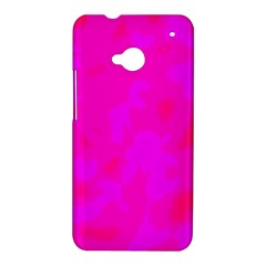 Simple pink HTC One M7 Hardshell Case