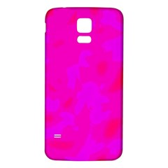 Simple pink Samsung Galaxy S5 Back Case (White)