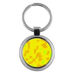 Simple yellow Key Chains (Round)