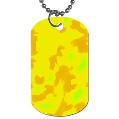 Simple yellow Dog Tag (One Side)