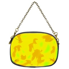 Simple yellow Chain Purses (Two Sides)