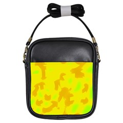 Simple yellow Girls Sling Bags
