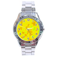 Simple yellow Stainless Steel Analogue Watch