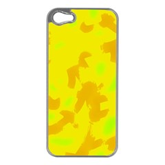 Simple yellow Apple iPhone 5 Case (Silver)