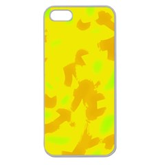 Simple yellow Apple Seamless iPhone 5 Case (Clear)