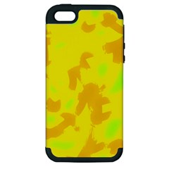 Simple yellow Apple iPhone 5 Hardshell Case (PC+Silicone)