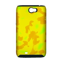 Simple yellow Samsung Galaxy Note 2 Hardshell Case (PC+Silicone)