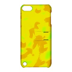 Simple yellow Apple iPod Touch 5 Hardshell Case with Stand