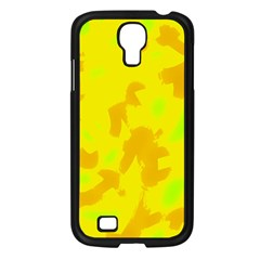 Simple yellow Samsung Galaxy S4 I9500/ I9505 Case (Black)