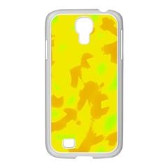 Simple yellow Samsung GALAXY S4 I9500/ I9505 Case (White)