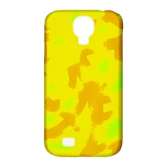 Simple yellow Samsung Galaxy S4 Classic Hardshell Case (PC+Silicone)