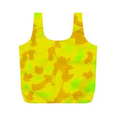 Simple yellow Full Print Recycle Bags (M)