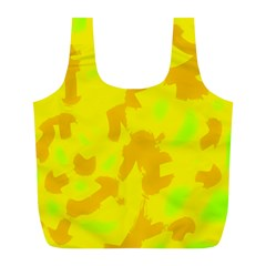 Simple yellow Full Print Recycle Bags (L)