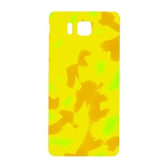 Simple yellow Samsung Galaxy Alpha Hardshell Back Case