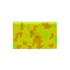 Simple yellow Cosmetic Bag (XS)
