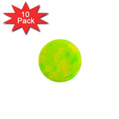 Simple yellow and green 1  Mini Magnet (10 pack)