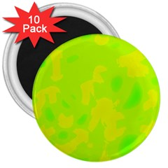 Simple yellow and green 3  Magnets (10 pack)