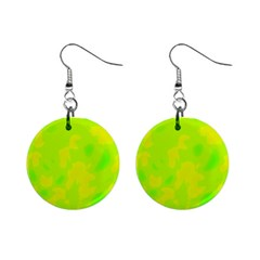 Simple yellow and green Mini Button Earrings